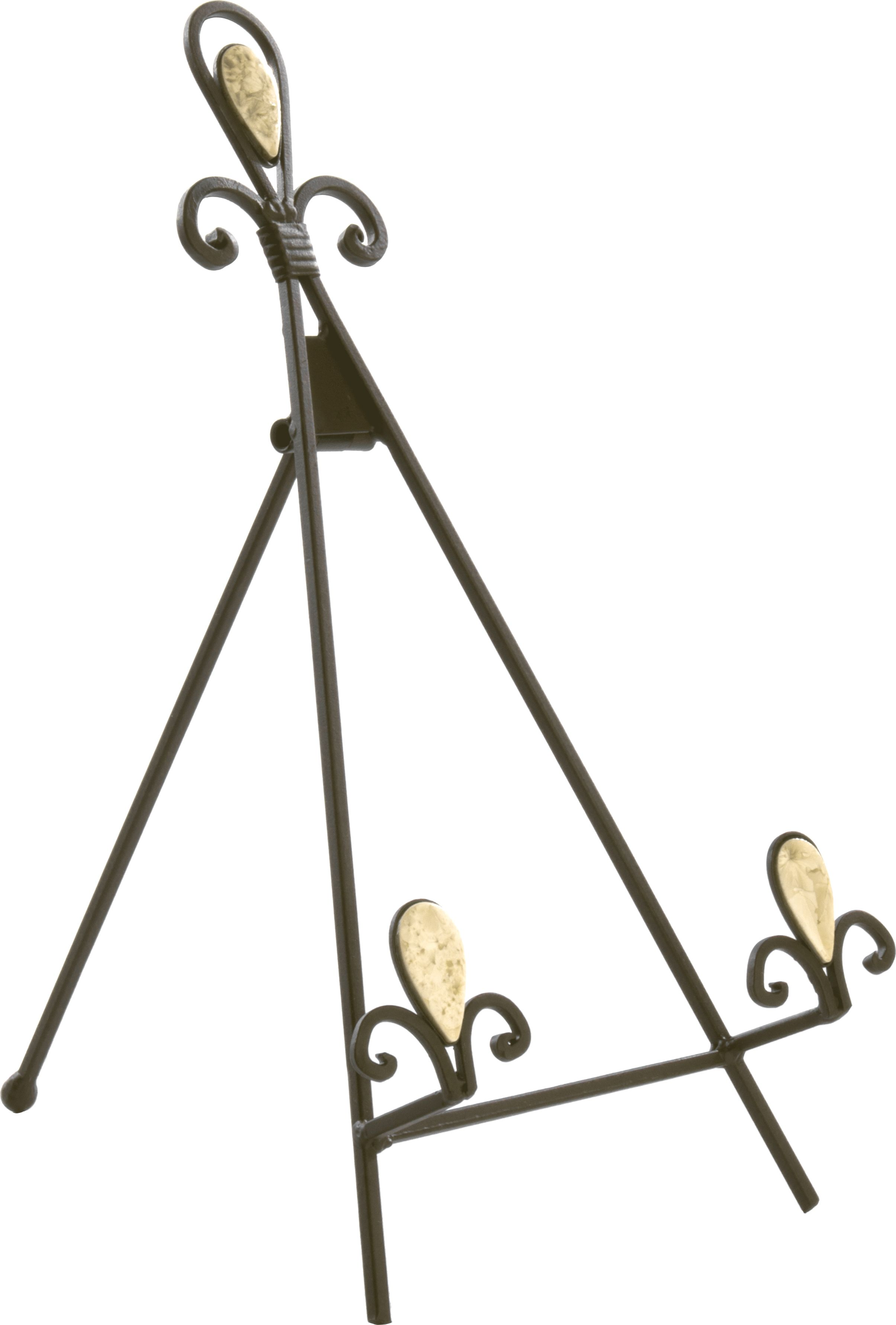 Wrought Iron Table Top Easel Decorative Tripod Design 8