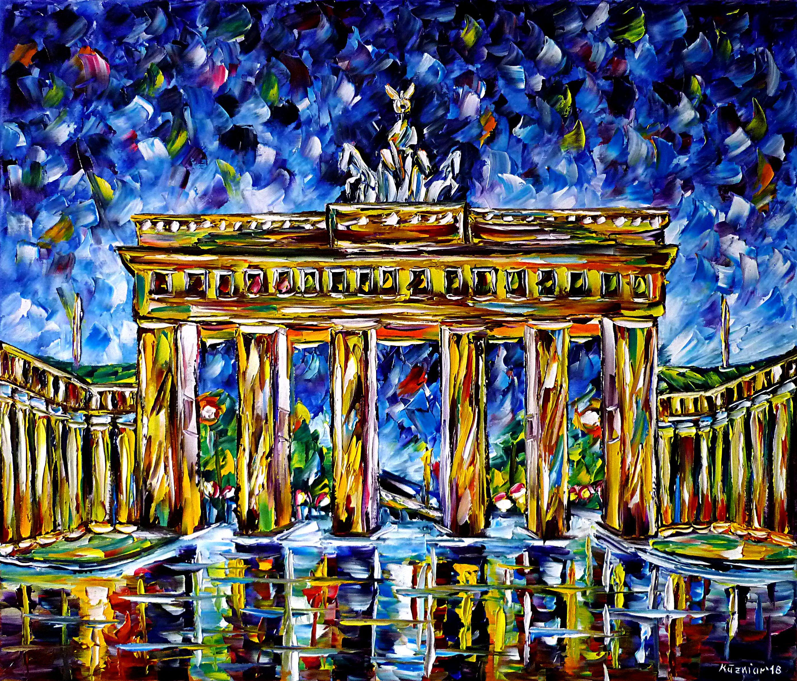 Brandenburger Tor By Mirek Kuzniar Ol Auf Leinwand Spachteltechnik Impressionismus Olmalerei Stadtlandschaft Modernema Idee Farbe Kunst Ideen Olmalerei