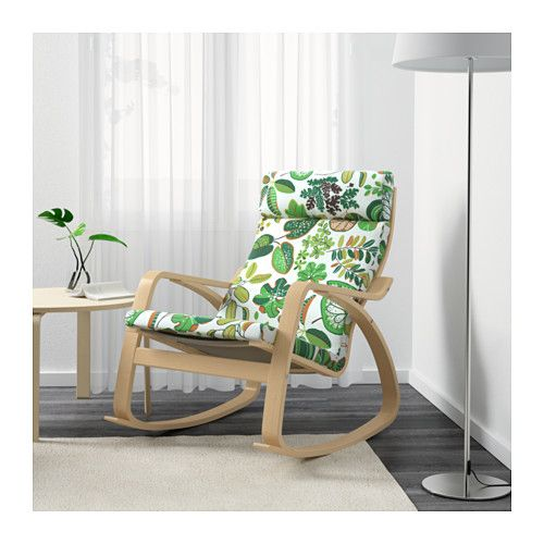 POÄNG Sedia a dondolo - Simmarp verde - IKEA