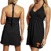 7f0990d2 My U Tennessee Volunteers Ladies Black Embroidered Halter Sundress ...