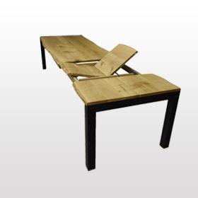 Tisch mit Baumkante Eiche Breite 100cm / Länge wählbar