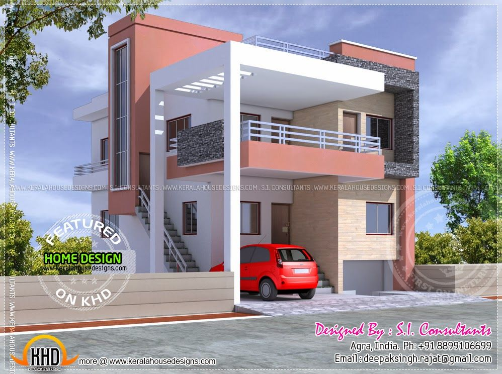 Pin By Leena Nathan On House Elevation Duplex House