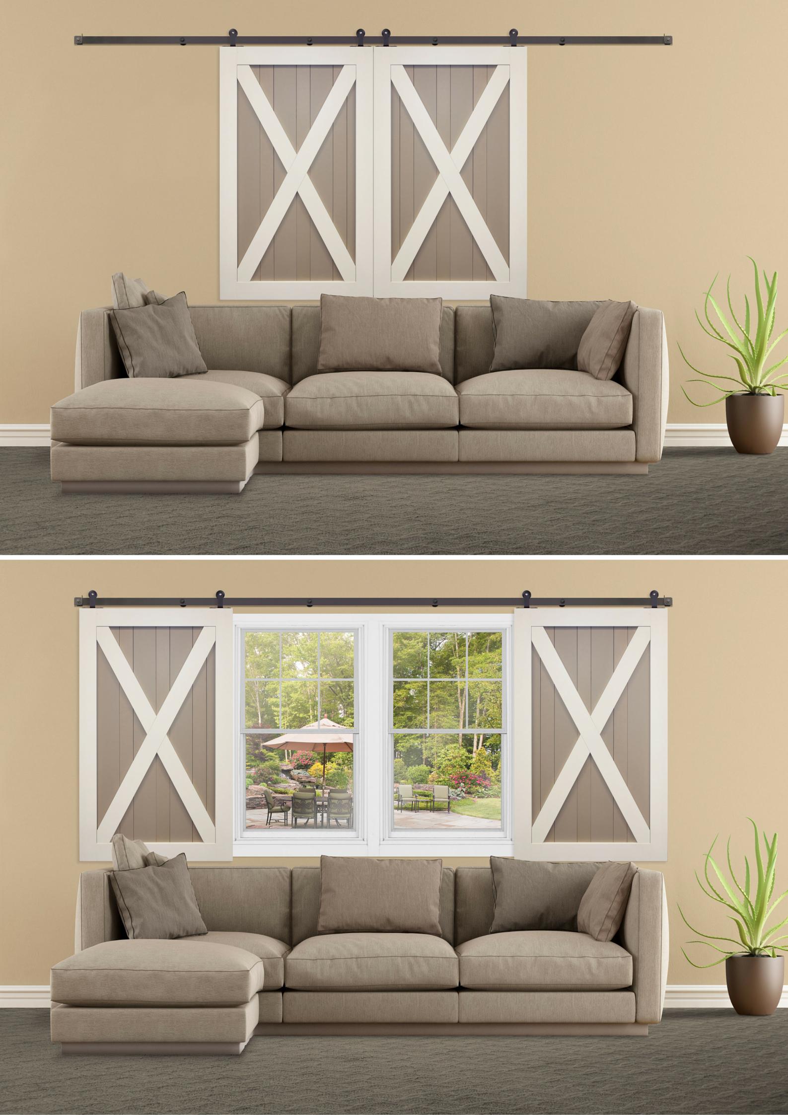 17 most popular bonus room ideas designs styles for Shutter window treatment ideas