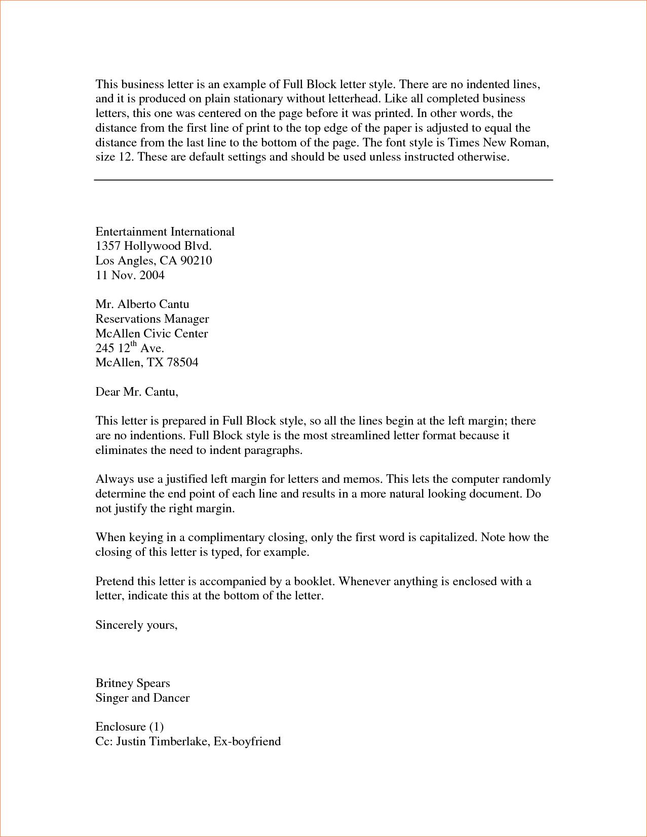 block style business letterreport template document report letter ...