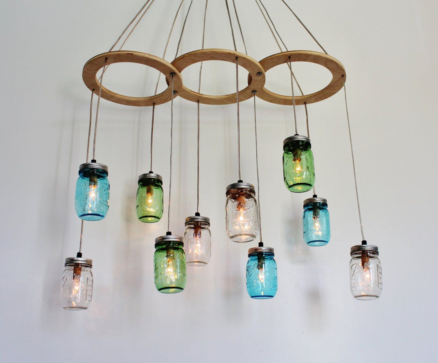 furniture creative diy upcycled hanging glass chandelier