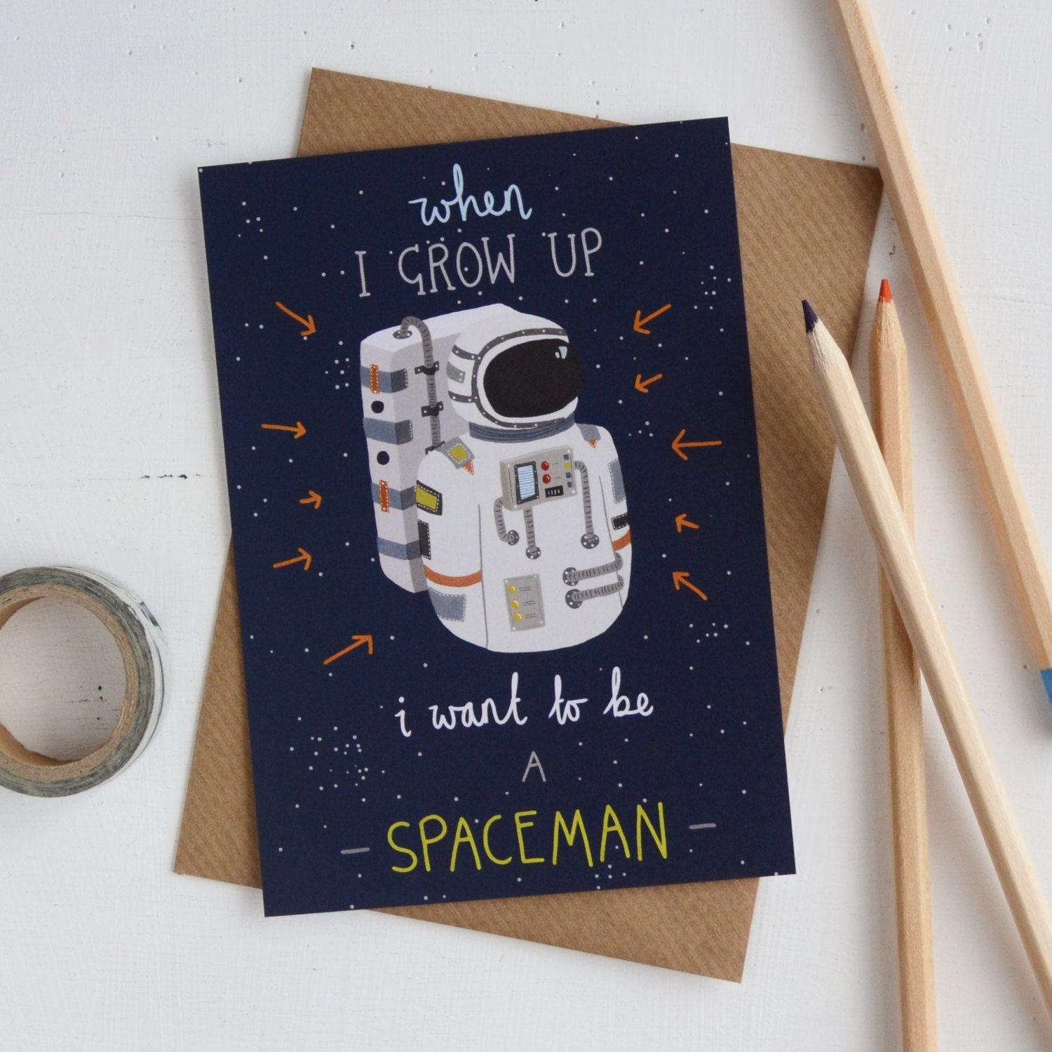 Astronaut Childrens Postcard Sale, I Want To Be A Spaceman
