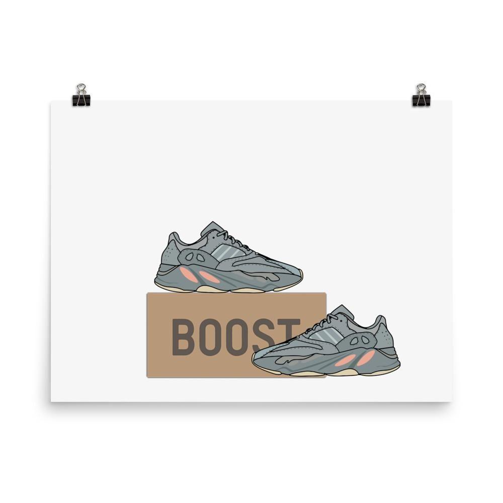 Poster Yeezy 700 Inertia Poster A L Effigie De La Nouvelle Paire De Yeezy Boost 700 Nommee Inertia Un Poster P Fond D Ecran Telephone Yeezy Sneakers Addict