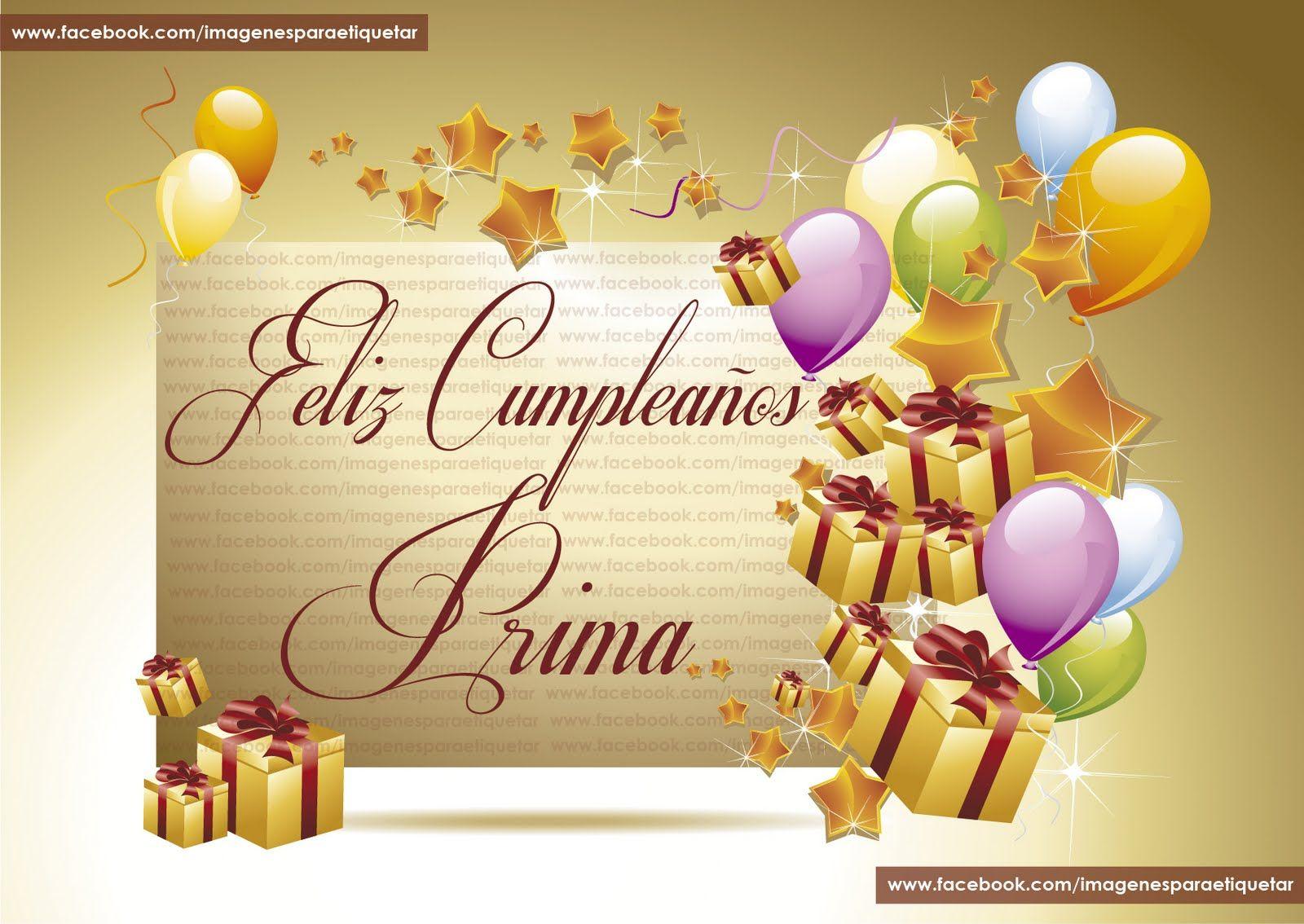 Felicitaciones de cumpleaños parauna prima feliz cumpleaños prima feliz 2bcumplea 25c3 2591os