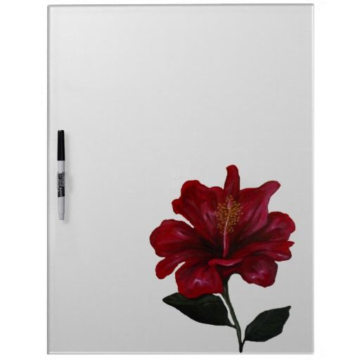 Red Hibiscus Dry Erase Board $48.95