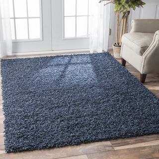 High Quality Shop For NuLOOM Alexa My Soft And Plush Solid Navy Shag Rug (4u0027 X