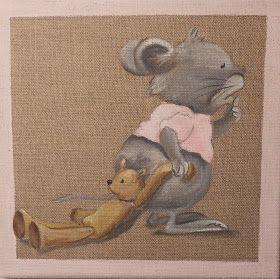 Ours et doudou (avec images)   Toile de lin, Dessin enfant ...