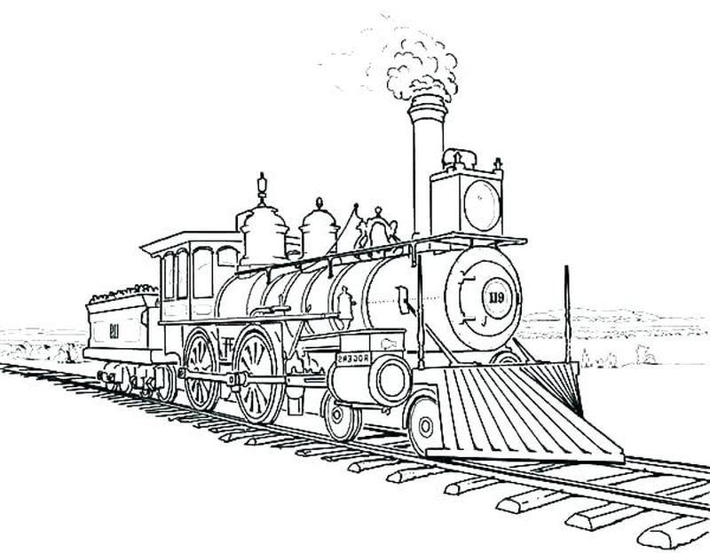 Coloring Pages Of Train In 2020 Train Coloring Pages Train Drawing Coloring Pages