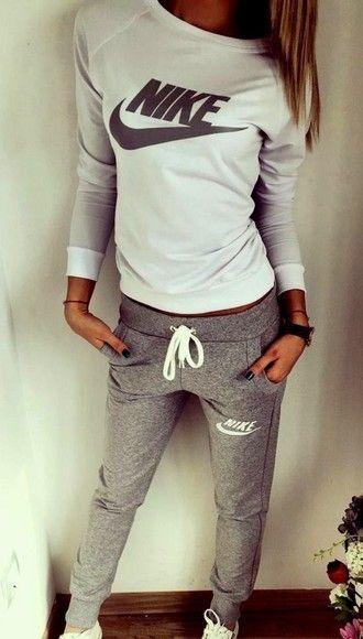 d5d17ffe6e jumpsuit nike sportswear nike sportswear off the shoulder top pants grey  tracksuit