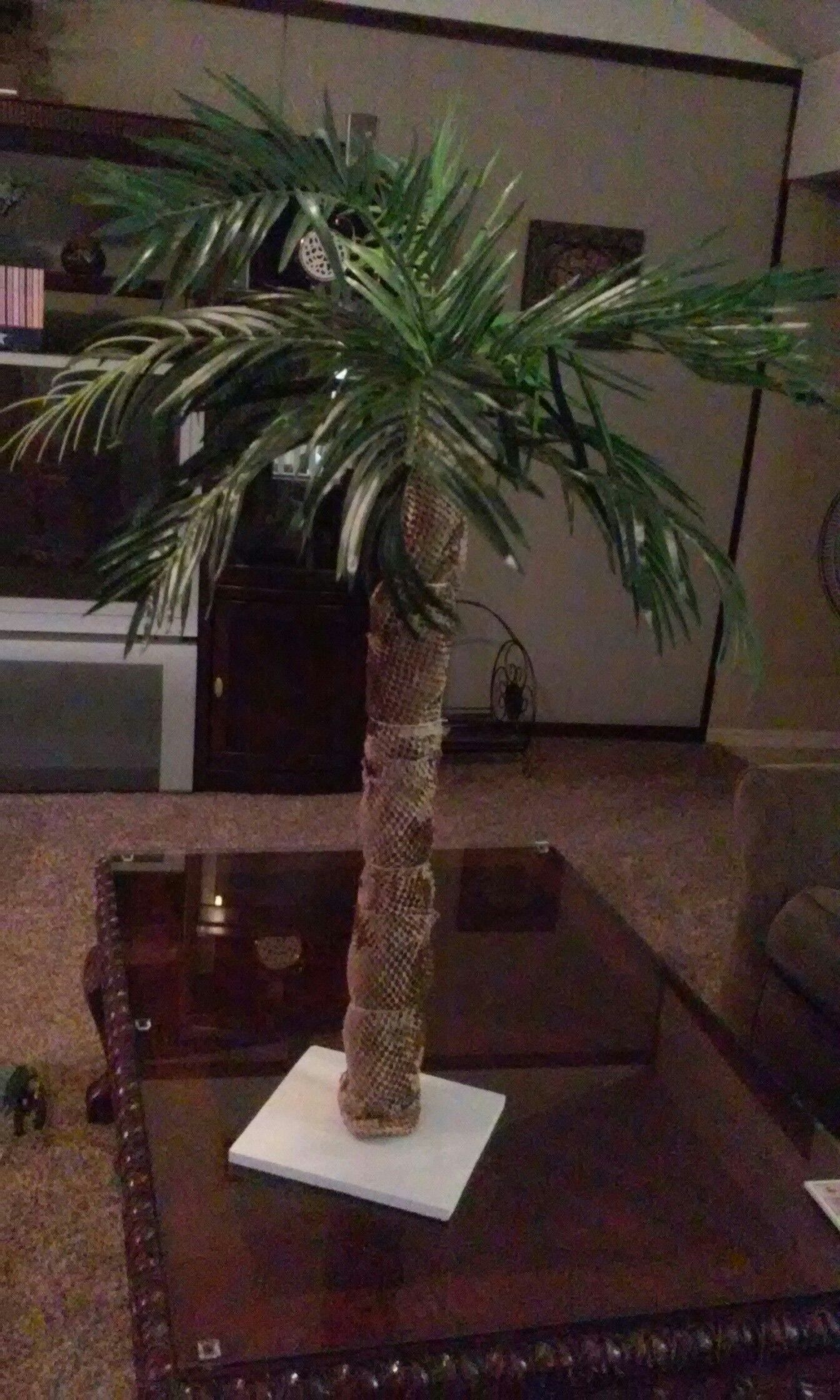 Homemade Palm Tree Made With Pvc Pool Noodle Over The Top Of That
