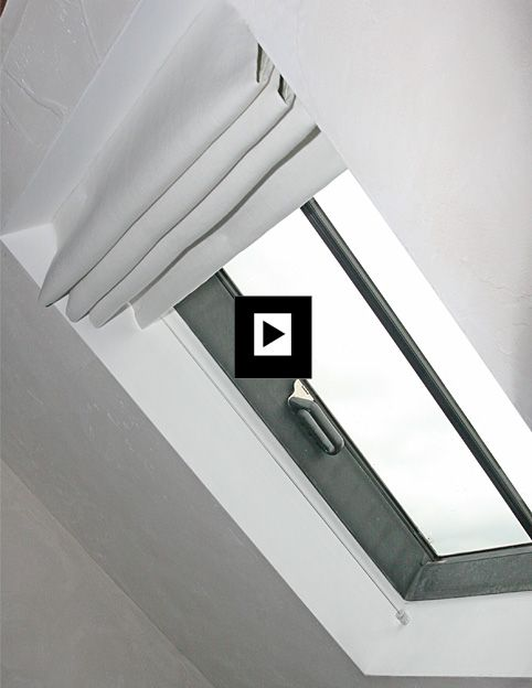 Roman Blinds For Conservation Roof Windows Blinds For Velux Windows Can Be Pretty Limited But Sloping Ceiling Roman Blinds On Wires Offer A Great Solution