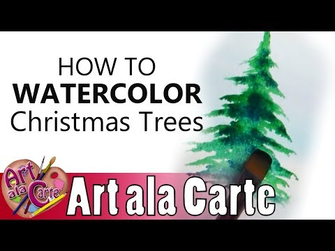 13 Watercolor Christmas Tree Tutorial Youtube In 2020 Watercolor Christmas Tree Christmas Watercolor Christmas Tree Art