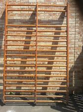 36c5f4ca3ab6 Details about Vintage Wooden Gymnasium Climbing Wall Bars (88cm x ...