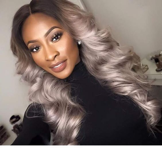 Ash Blonde With a Purple Hue. Achieve this look with Mayvenn's Light Blonde With Dark