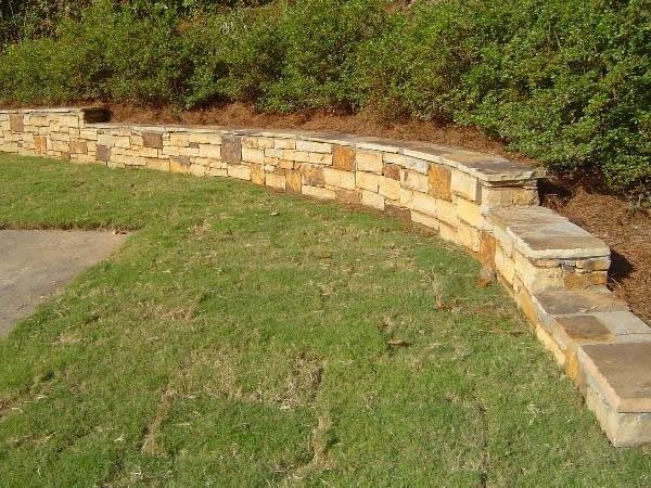 Low Rretainer Wall Low Retaining Wall Can Also Double As Extra - small retaining wall design