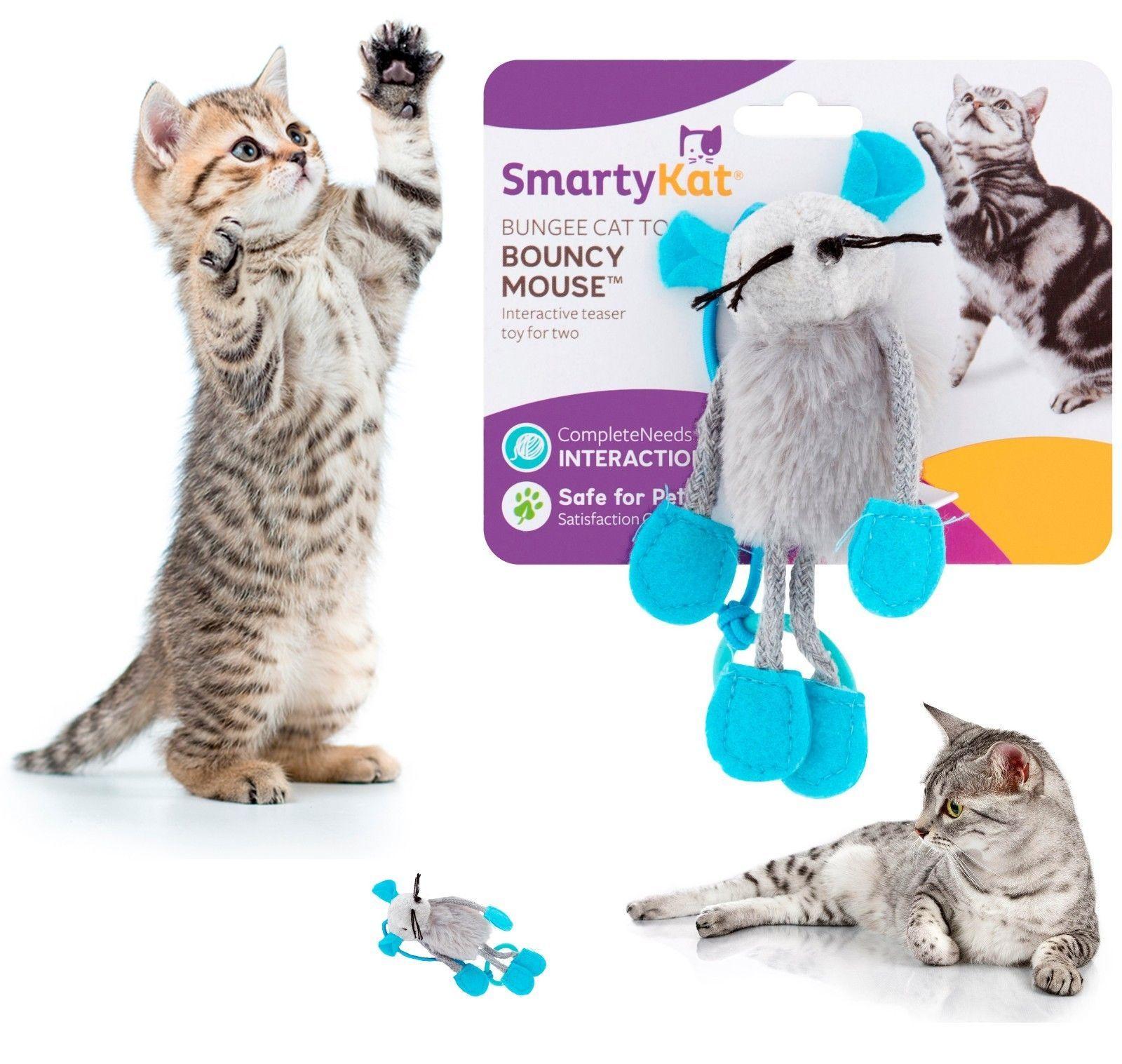 SmartyKat Bouncy Mouse Interactive Cat Toy Pet Interactive Fun Kitten Exercise