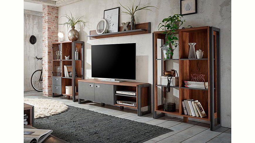 Home affaire Wohnwand (4tlg) »Detroit Set 1«, im angesagten - industrial look wohnzimmer