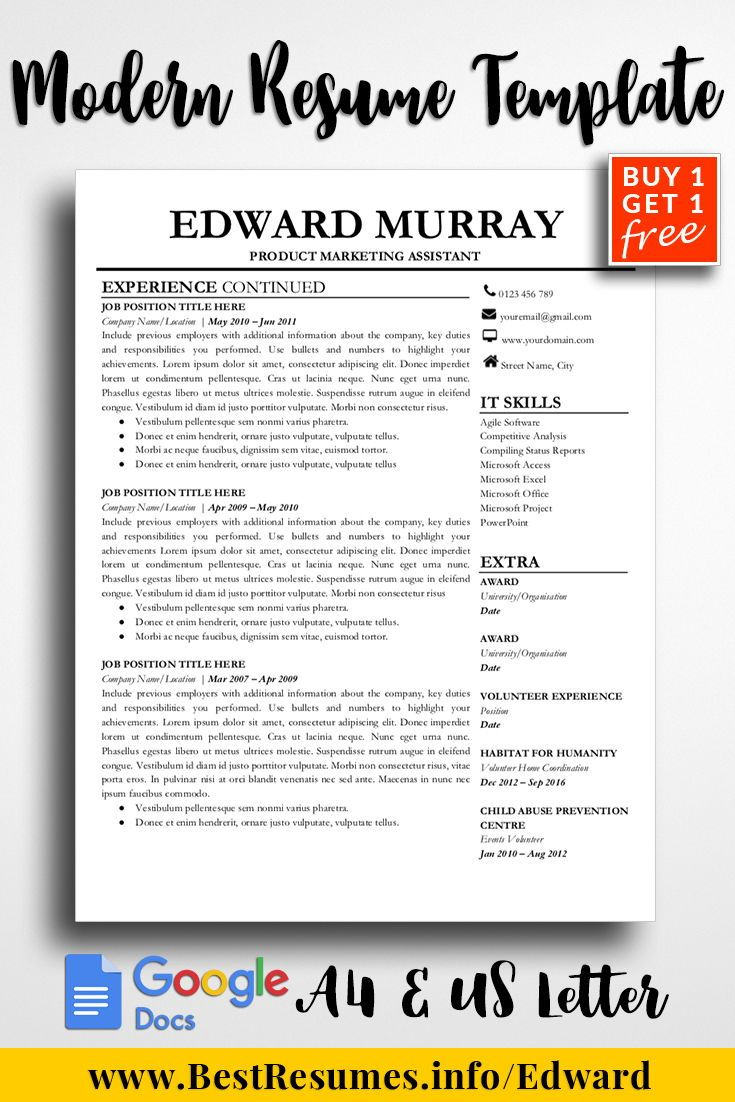 Resume Template Edward Murray    Resume Template Download