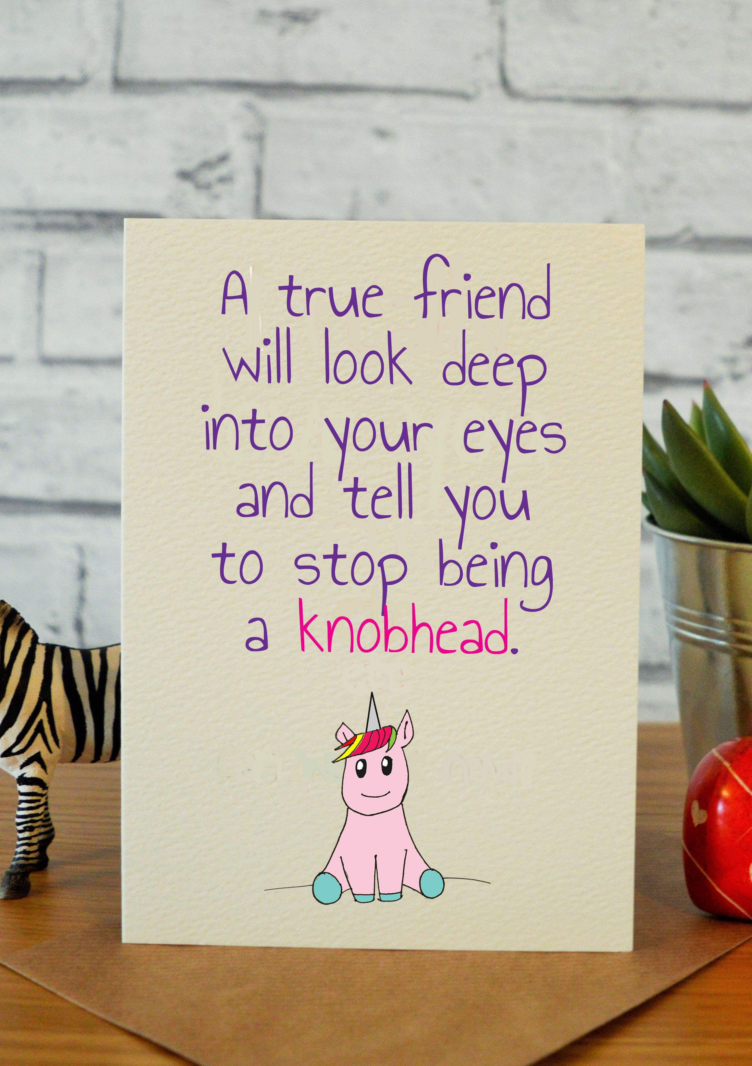 Best Friend Birthday Cards Gifts Unicorn Gift Ideas Handmade Hilarious
