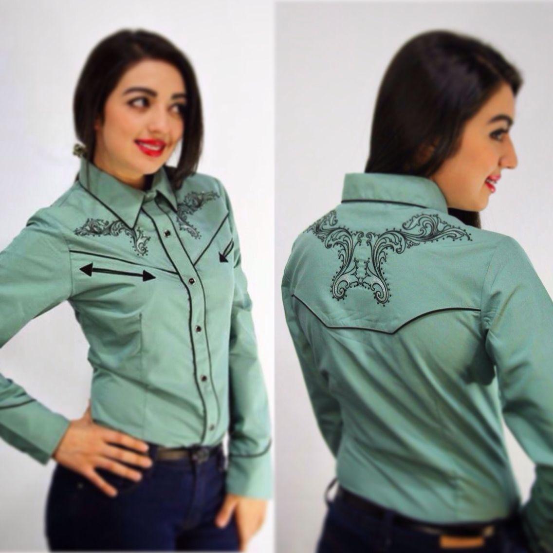 3c9d08cdd9b64 Camisa Vaquera Diana Blusa Vaquera