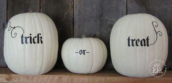 Trick or Treat pumpkins