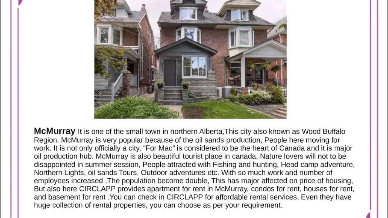 CIRCLAPP Apartment for rent in McMurray Edmonton