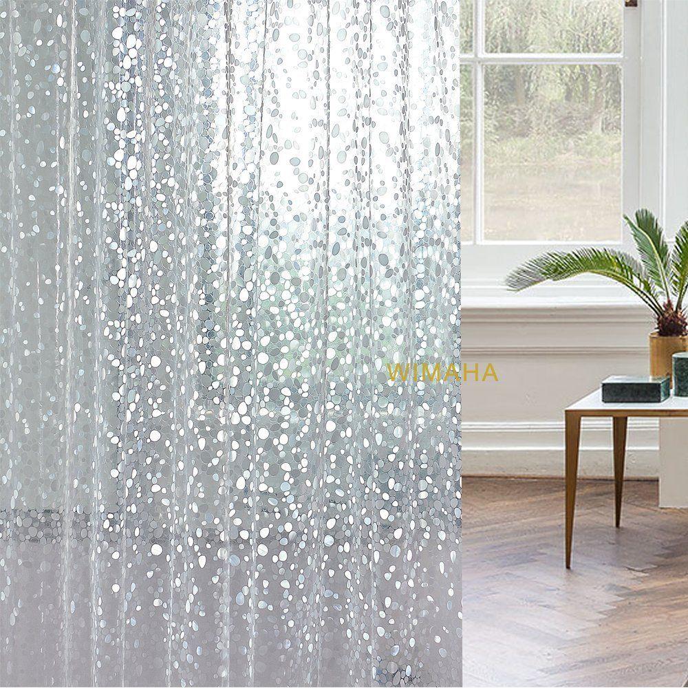 Amazon 15 Gauge Premium Nontoxic EVA Shower Curtain Clear Wimaha Mildew Resistant Anti Bacterial Liner Waterproof Water Repellent Heavy
