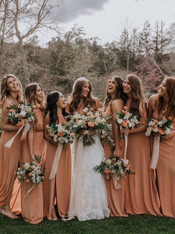 Orange Fall Bridesmaid Dresses