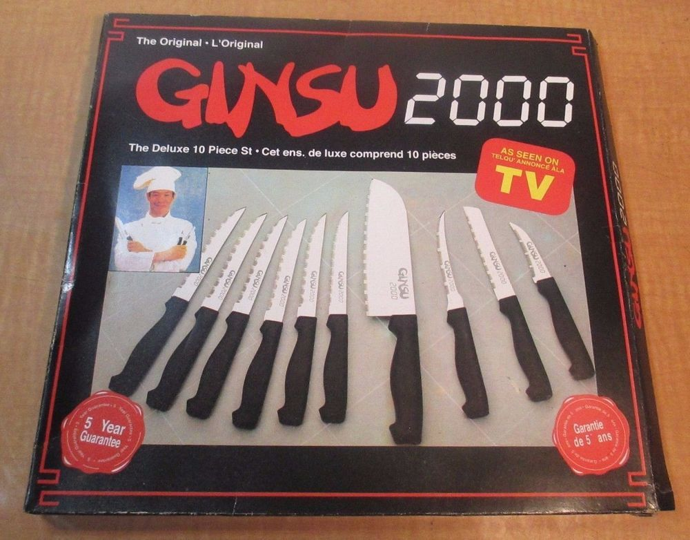 amazing Knife Set As Seen On Tv Part - 17: The Original GINSU 2000 Knives AS SEEN ON TV Deluxe 10 pc Set IN ORIGINAL  BOX LN #Ginsu