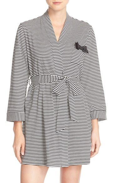 157ae37c41 kate spade new york stripe cotton blend robe available at  Nordstrom ...