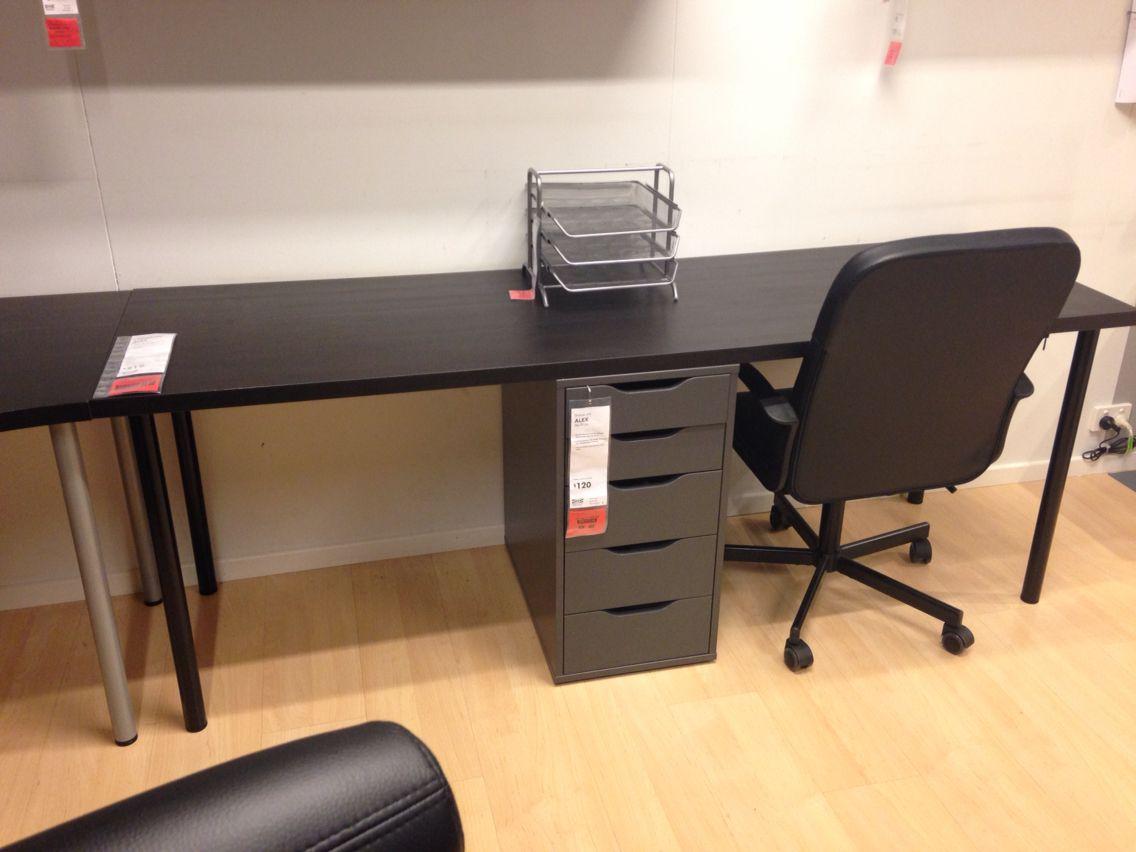 Ikea Linnmon Alex Extension Desk Setup Desk Home