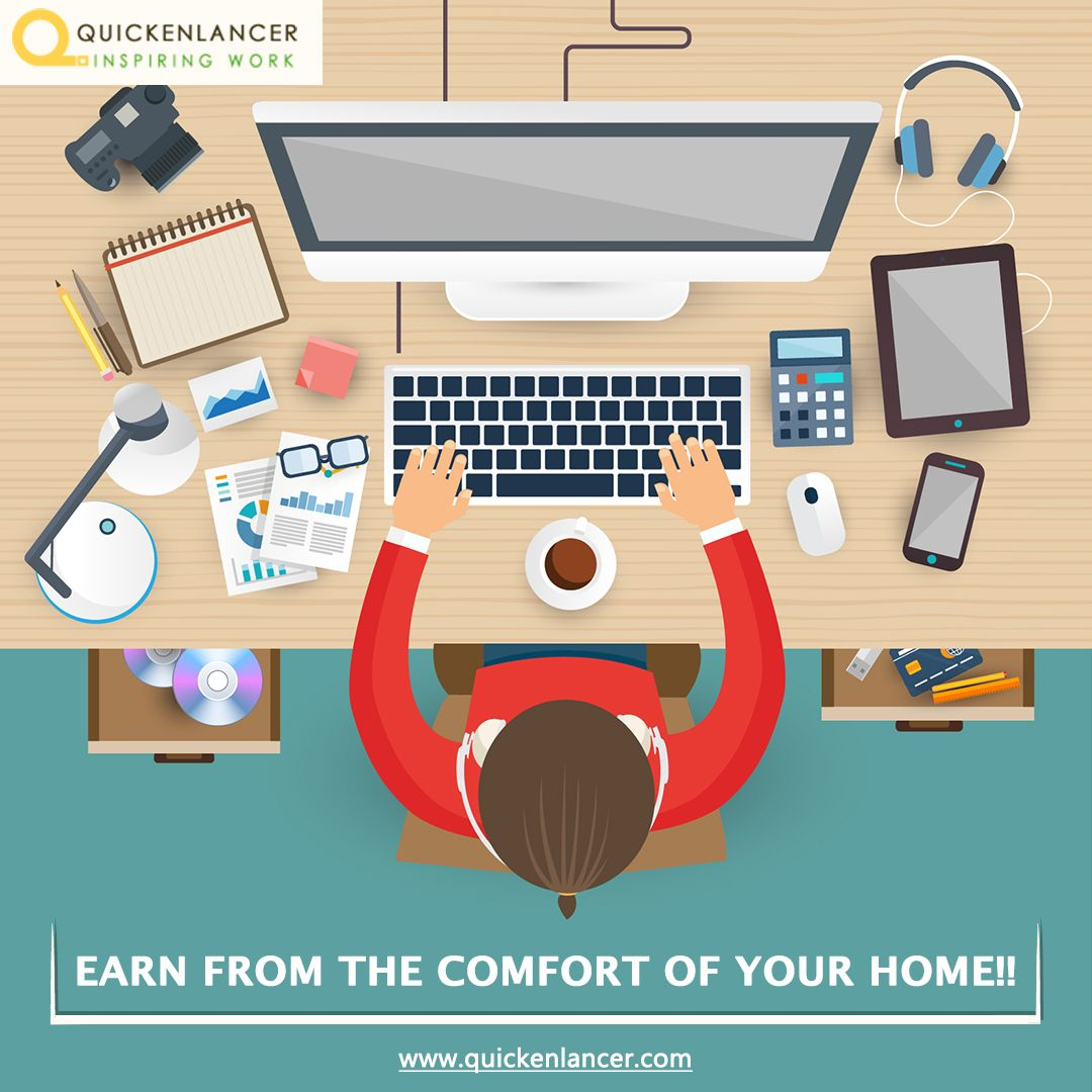 Register now at Quickenlancer and start freelancing!