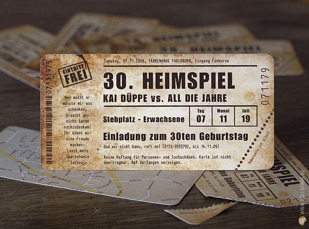 Einladungskarte Heimspiel Vintage Das Original Einladung 30
