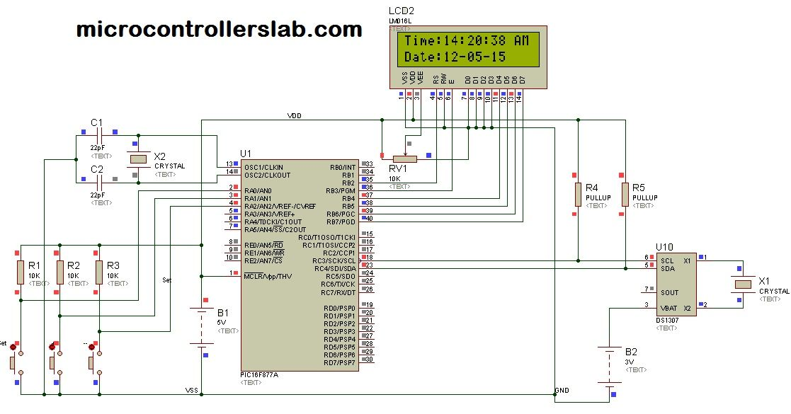 Digital clock DS1307 using pic microcontroller microcontrollers