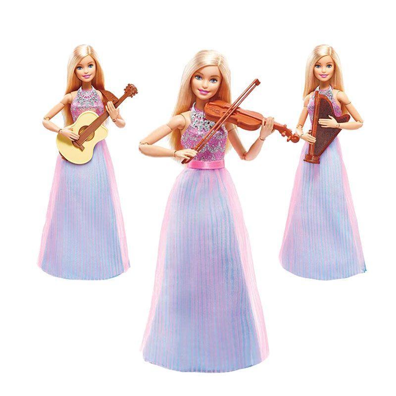 Barbie Natale.Cheap Originale Barbie Doll Violino Refresh Modello