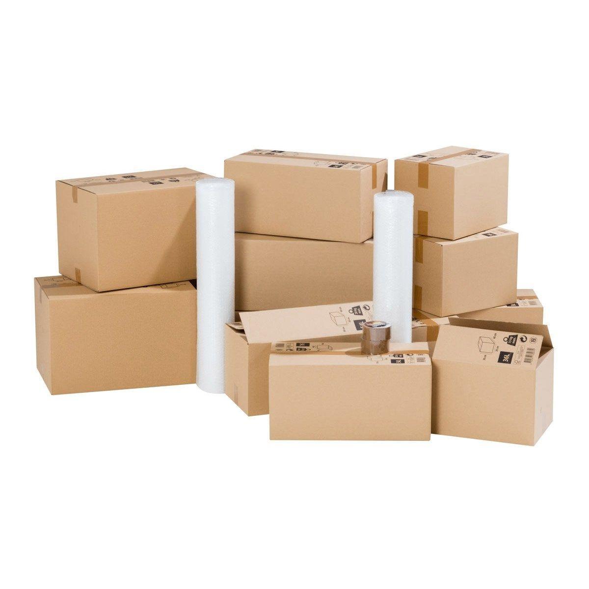 Kit Demenagement Pour Logement 35m Cartons Films Bulle Adhesifs Carton Kit Et Film
