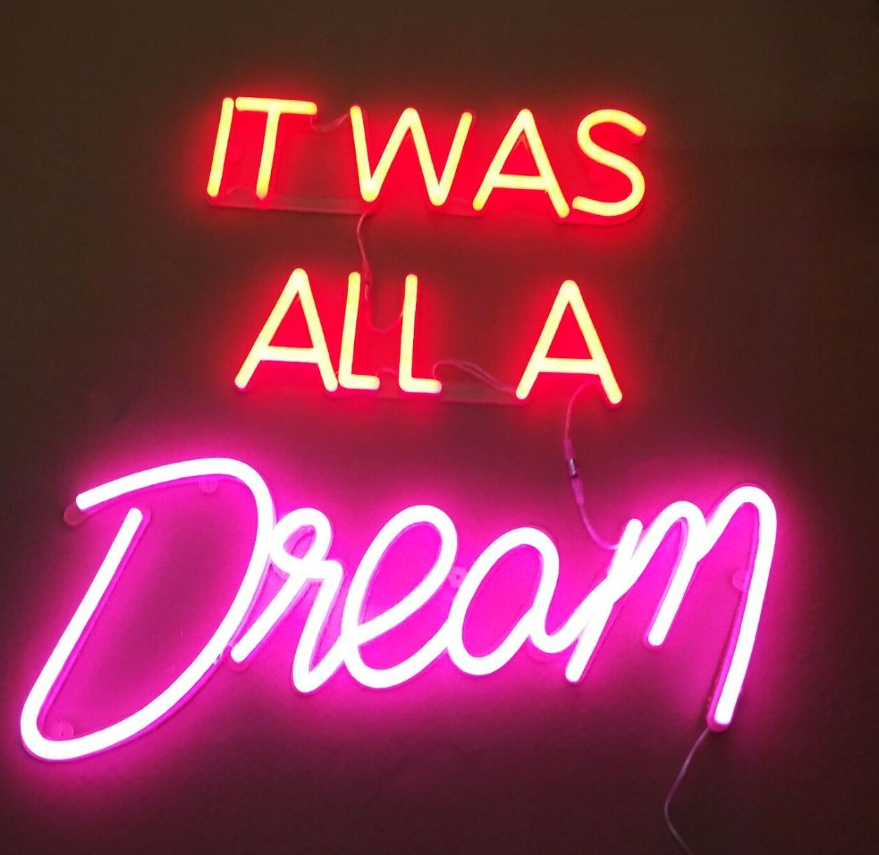 It Was All A Dream Neon Sign Custom It Was All A Dream Neon  Neon  Pinterest  Neon Thoughts And Neon Inspiration Design