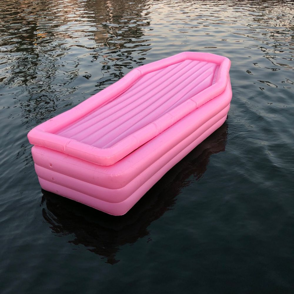 Schwimmschatullen Brauch Custom Aufblasbare Rosa Sarg Pool ...