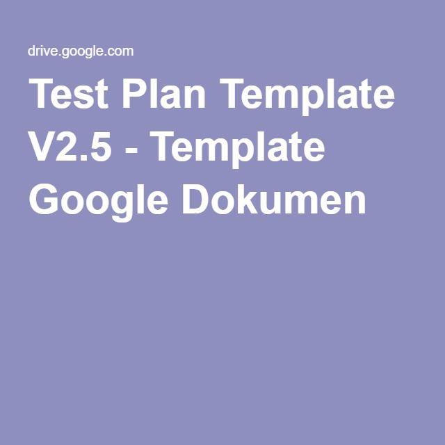 Test Plan Template V  Template Google Dokumen