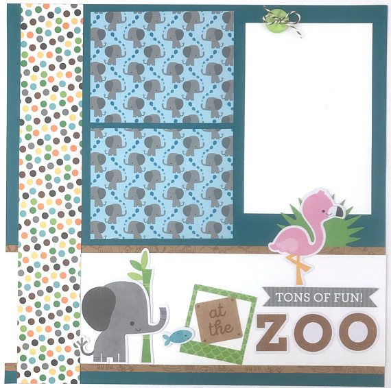 12x12 zoo scrapbook page kit or premade pre cut with instructions 6 12x12 zoo scrapbook page kit or premade pre cut with instructions 6 pages animals elephants tigers monkeys this is a pre cut do it yourself scrapbook kit solutioingenieria Image collections