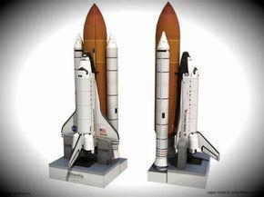 PAPERMAU: Atlantis Space Shuttle Paper Model In 1/150 Scale - by Paper Replika