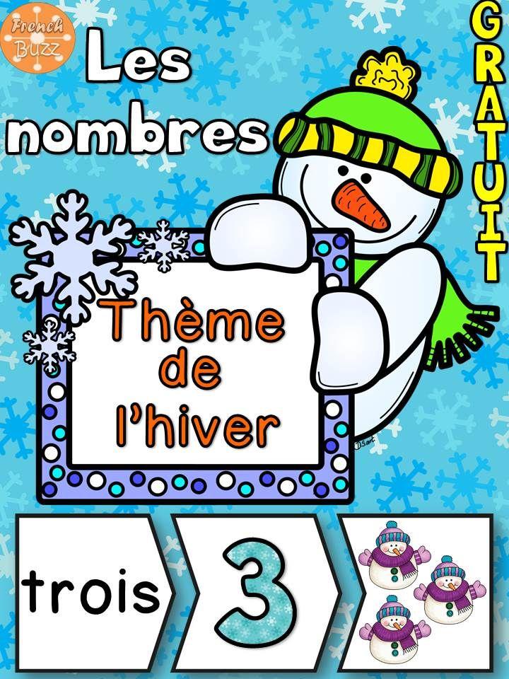 Les nombres - Puzzles - Thème de l'hiver. Jeu idéal pour les centres de numératie/mathématiques. Téléchargez gratuitement!