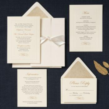 beaded embossed border wedding invitation stephanie daniel paper source - Paper Source Wedding Invitations