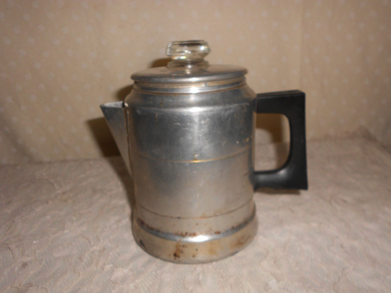 Aluminum coffee maker comet black handle 5 cup black