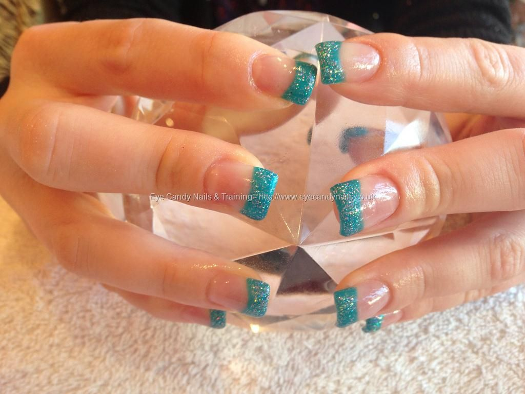 acrylic nails with glitter tips | - Nails Gallery: Acrylic nails ...
