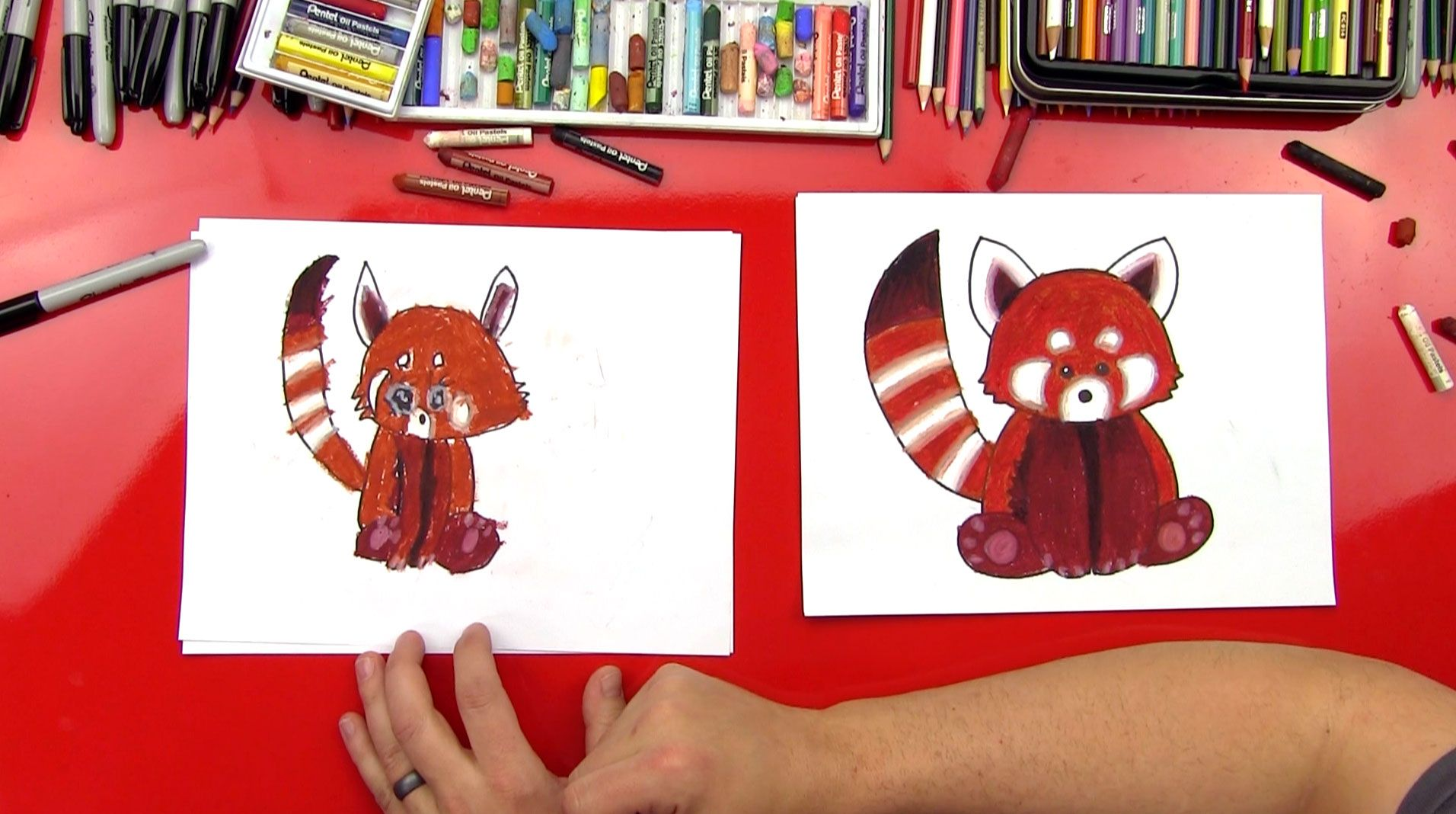 How To Draw A Red Panda Art For Kids Hub Art For Kids Hub Panda Art Panda Drawing
